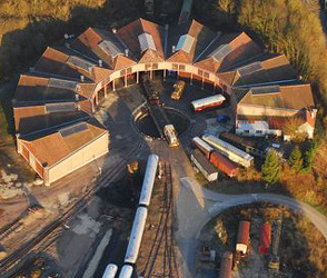 Longueville roundhouse photo by Michel Giguet
