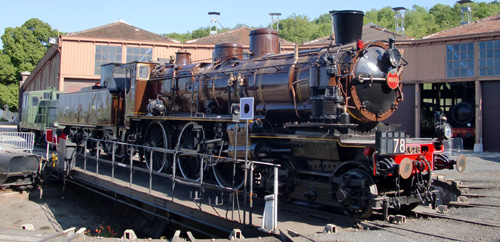 Steam engine 230 D 116 SNCF former NORD 3.628 A new star at Longueville roundhouse